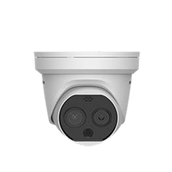 Thermal & Optical Network Turret Camera, support Strobe light and audio alarm