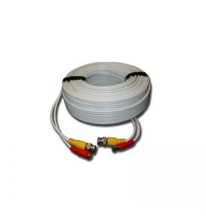 White 100 feet Pre-made power and video HD-TVI cable