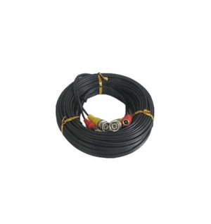 Black 60 feet Pre-made power and video HD-TVI cable
