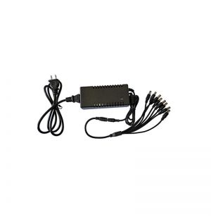 Power adapter DC12V 5A with 8 splitter