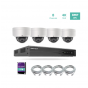 8ch 4K NVR KIT with 4pcs 8MP IP Dome Cameras