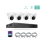 8ch 4K NVR KIT with 4pcs 5MP IP Turret Dome Cameras