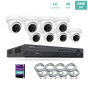 16ch 4K NVR KIT with 8pcs 5MP IP Turret Dome Cameras