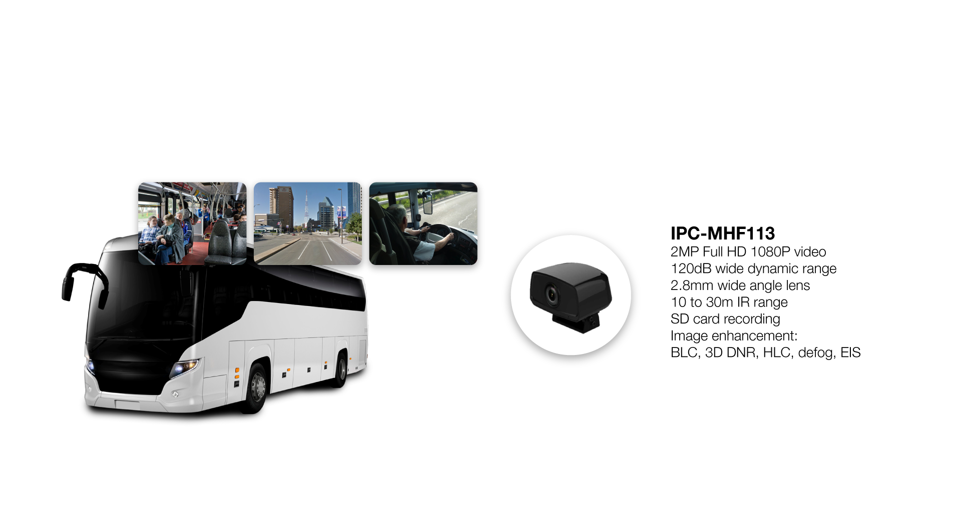 Mobility Grade Network Camera for Front/Back/Driver View