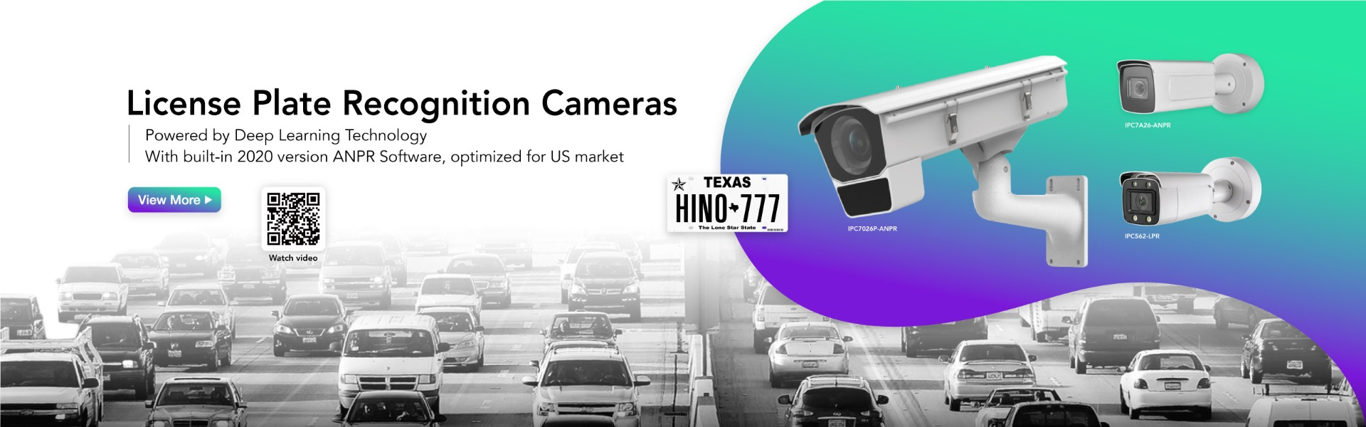 HINO ANPR Camera with built-in License Plate Recognition